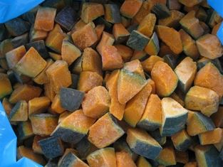 China Frozen Steamed Sweet Pumpkin Dices unpeeled, size 2.5 * 2.5 mm supplier