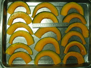 China Frozen Steamed Sweet Pumpkin Slice with skin supplier