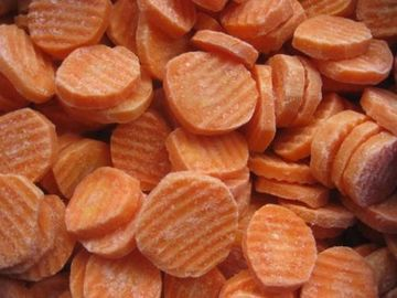 IQF Frozen Carrots Slices, Crinkle Cut